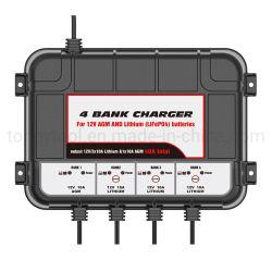 12V 4X10um ácido de chumbo e lítio (LiFePO4) Gotejamento Automático Carregador de bateria Smart Sustentador da Bateria para Carro Moto cortador de relva Boat