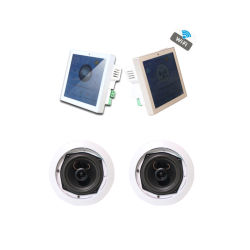 Sh1037 système audio domestique WiFi ! Amplificateur 2 canaux mur Bluetooth avec Android+ de 5 pouces de haut-parleur de plafond défini