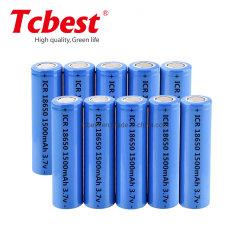 Fabricante de alimentación directamente de fábrica/CB/KC/MSDS/ONU38.3 18650 3.7V 1500mAh Li-ion recargable baterías de litio para el Banco de potencia