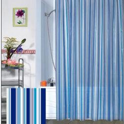 Commerce de gros 100% Polyester étanche de rideau de douche (DPF10740)
