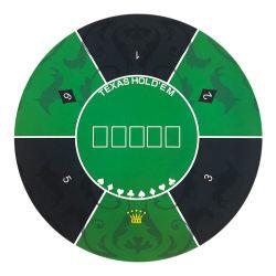 1.2م من القماش الأخضر المستدير الأزرق تكساس هولدم المطاط سطح الطاولة مع سرعة قطعة قماش السجاد لكازينو يستخدم قمار البوكر مات