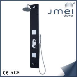 Lujo Jmei clásico panel de ducha de vidrio de seguridad con las funciones de masaje aqua (JM-TG080)