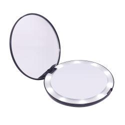 مصابيح LED قابلة للتخصيص 10pcs قابلة للتخصيص مرآة الزينة سحري للجيب اليدوي مرآة ماكياج LED