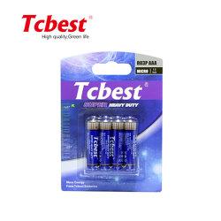 Tcbest Hochleistungsgröße der kohlenstoff-Zink-trockenen Batterie-R03p Am-3 1.5V AAA