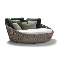 PE Rattan al aire libre Chaise Lounge cama de día Sunbed Muebles al aire libre