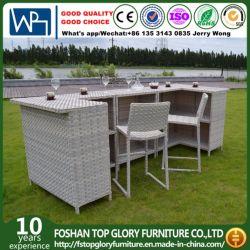 Garten-Rattan-Möbel-Stab stellte mit Kissen für im Freien ein (TG-6003)