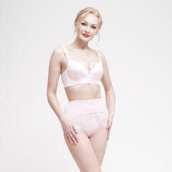 Alta calidad de señoras la moda lencería sujetador y Panty Conjunto de control de cintura alta Barriga ropa interior