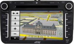 nTray GPSのVW Passat/Tiguanの車のDVDプレイヤー(7166)