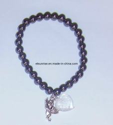 半宝石の自然な水晶石造りのチャーミングなブレスレットの宝石類