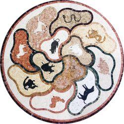 훈장을%s 주문을 받아서 만들어진 예술 패턴 디자인 자연적인 돌 대리석 모자이크