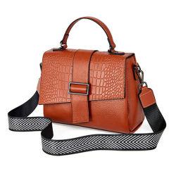 حقيبة يد أنيقة فاخرة PU للنساء ناعمة PU Crocodile Pattern حقيبة الكتف الأكثر شعبية حقيبة كلاسيكية مربع حقيبة السيدات