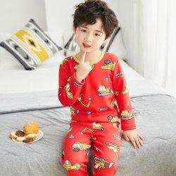 Los niños Long-Sleeved Traje de seda de la leche pura del niño y niña de 2 conjuntos de ropa interior Pijamas Ropa de bebé