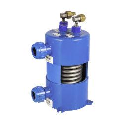 مبرد حلزوني أنابيب تيتانيوم المبادلات الحرارية مياه التبريد إلى الماء