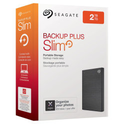 محرك أقراص USB SSD USB SSD Backup Plus Slim USB 3.0 خارجي من Seagate بسعة 2 تيرابايت محرك الأقراص الثابتة