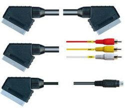 21pin Euroconector a Euroconector de Audio y Video RCA Cable 5 pines de 8 clavijas