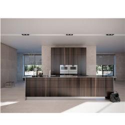 Classico reale poco costoso della mobilia della casa dell'armadio da cucina dell'impiallacciatura del legname di alta qualità moderna di prezzi bassi