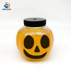 Commerce de gros 16oz 500ml de jus en forme de citrouille en plastique PET Bouteille avec éclairage LED pour l'Halloween