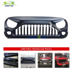Nuevo diseño en plástico ABS enojado Rejilla frontal para Jeep Wrangler Jk Jku 2007 2016