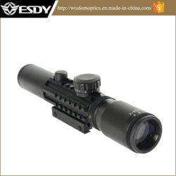 2-6X28e에 의하여 조명된 빨강 & 녹색 밀 점 Riflescope는 10-20mm 가로장 59를 적합하다
