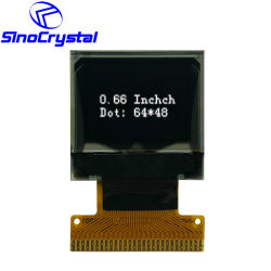 سعر المصنع 0.66 بوصة OLED Module عالية الدقة 64X48 مرنة شاشة OLED مع شاشة OLED مع لوحة الجملة