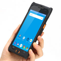 移動式バーコードのスキャンナーRFID NFCを手持ち型ターミナルと呼出す人間の特徴をもつ産業PDAの声