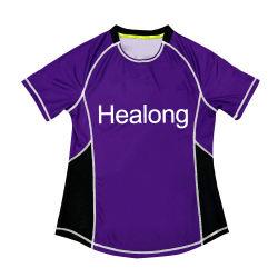 Nuevo diseño de la sublimación Healong mayorista Camiseta Camiseta señoras personalizado