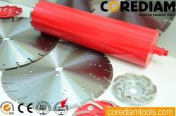 1''-14''/25mm-350mm diamantes soldada con láser las brocas de perforación de núcleo húmedo con techo para diferentes segmentos concretos de dureza/herramienta de diamante/herramienta de perforación
