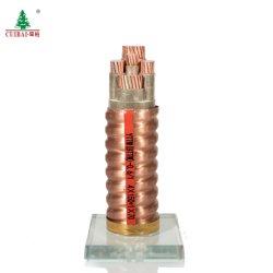 低い煙ゼロ本のハロゲン自由な銅によっておおわれる耐火性の電源コード