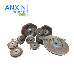 알루미늄 산화물 가는 금속을%s 물림쇠를 가진 장착하지 않는 플랩 바퀴