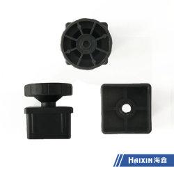 Parti di cabinet stampate ad iniezione in plastica personalizzate parti di plastica regolabili per gambe/piedi DI PVC/ABS/PP/PE/PA6/PA66