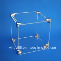 Nueva caja de acrílico transparente de cristal