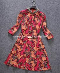 Rojo rosa vestido de mujer