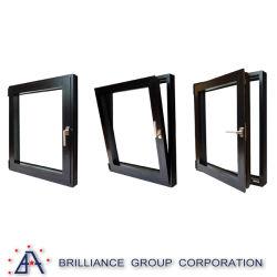 Fenêtres coulissantes en verre en aluminium/inclinaison et tourner la poignée de fenêtre