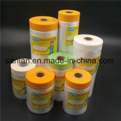 Crepe di nastro di carta con la pellicola protettiva per la pittura