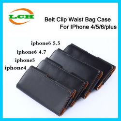 사업 작풍 PU iPhone 7/6s/6를 위한 가죽 허리 부대 벨트 클립 손가락으로 튀김 전화 상자