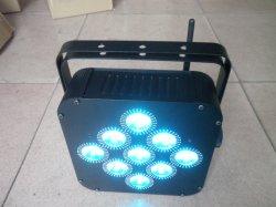 専門の広州DJはLEDの平らな同価9X18W Rgbaw紫外線6in1 DMX無線電池Powerd LED Uplightsをつける