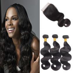 普及した美100%の人間の加工されていないバージンのブラジル人の毛