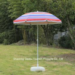 Ombrello di spiaggia d'acciaio di protezione UV con inclinazione fatta da Nylon