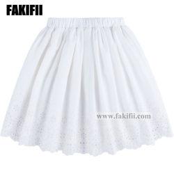 여름 최상 주문을 받아서 만들어진 아이들 의복 소녀 의류 유아 옷 백색 자수 치마 상표 아이 착용
