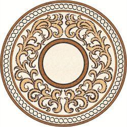 Het marmer Opgepoetste Waterjet Patroon van het Medaillon voor de Tegel van de Decoratie van de Bevloering