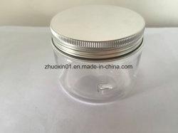 250 g de plastique Pet Food Grade Jar avec aluminium / bouchon à vis en plastique