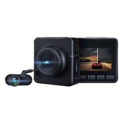 정면 가득 차있는 HD 1080P와 백업 사진기 720p 캠을%s 가진 2중 채널 차 DVR 디지털 비디오 녹화기는 대시 이중으로 한다