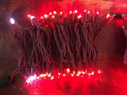 [إيب68] تلألؤ كبل أحمر مطّاطة [لد] ساحرة خيط أضواء لأنّ خارجيّة