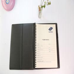 Notizbuch aus PU-Leder mit weicher Abdeckung und Wire-O-Abdeckung