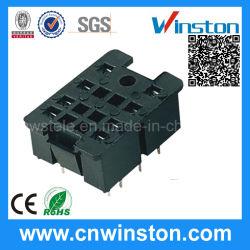 セリウムとのPlasticの小型喧騒Rail Mouting Electrical Relay Socket
