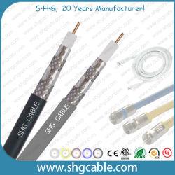 75ohms CATV quadruple blindage du câble coaxial RG6