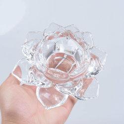 ガラスのキャンドルステッカークリスタルのウエディングデスクの装飾