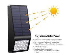 precio de fábrica hogar Vintage ajustable negro LED Solar exterior IP65 Lampara de pared Pared Dispositivo de luz
