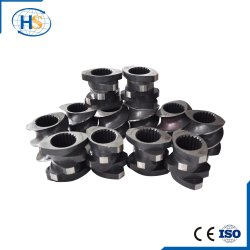 Twin Screw To extrude Screw for Plastic Granulating Line To manufacture