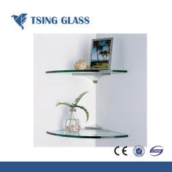6-12mm / étagère en verre de couleur claire pour salle de bains / montrant Stand